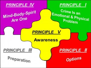 five principles self defense