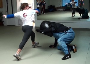 full force self-defense knee the head